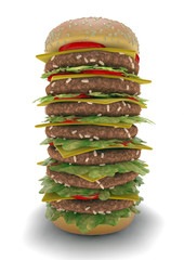 Hamburger meal XXL