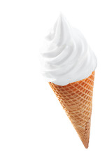 Icecream cone with twirled softserve