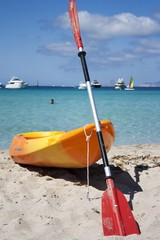 paesaggio con canoa