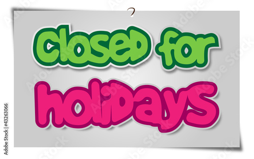 Closed Holidays