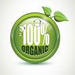 100% Organic - glossy icon