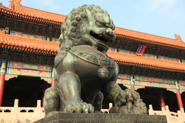 Forbidden city palace in Beijing, China