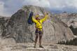 Climber celebrates on the summit.