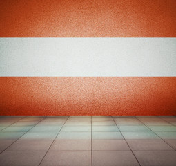 flag in empty room