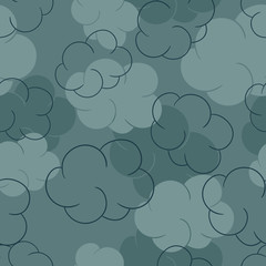 Seamless pattern with clouds - vector illustration.