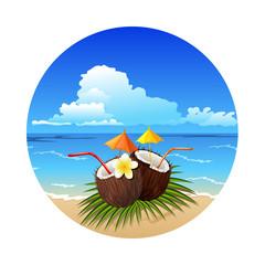 Tropic coconut cocktail
