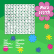 word search game. Flower
