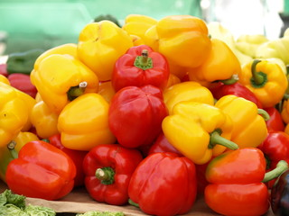Bell peppers heap