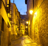 Empty alleyways in Cuenca. Spain.-