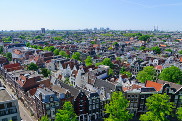 View from Westerkerk, Amsterdam, Netherlands