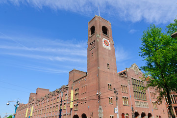 Beurs van Berlage (Old Stock Exchange) in Amsterdam, Netherlands