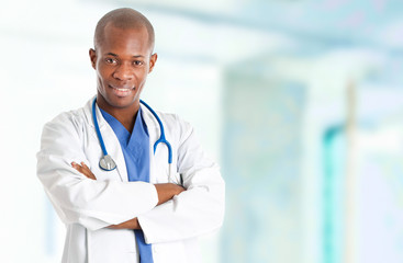 African young doctor portrait