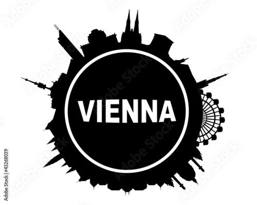Wien Skyline rund