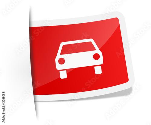 Label mit Auto