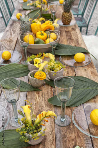 Table setting for garden party