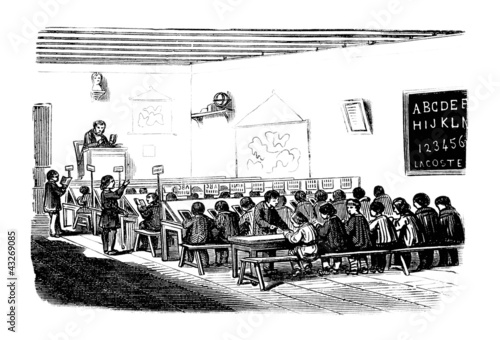 School : classroom - 19th century