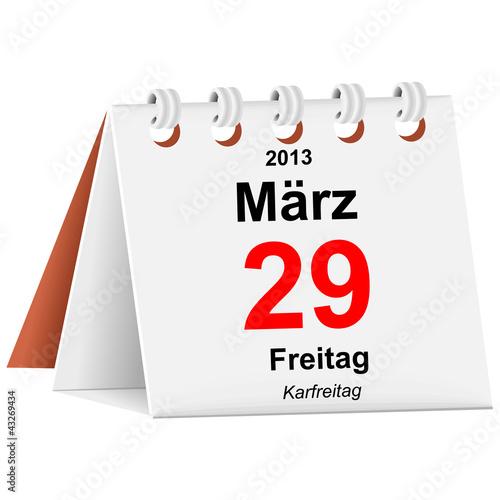 Kalender - 29.03.2013 - Karfreitag