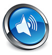 Audio icon 3D blue button