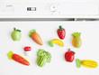 imanes de nevera de frutas y verduras