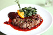Duck confit , Roasted duck with blueberry sauce - 43270293