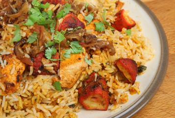 Indian Chicken Tikki Biriyani Curry