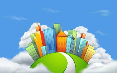 City in Cloud