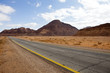 Road in the Wadi Rum desert - south Jordan