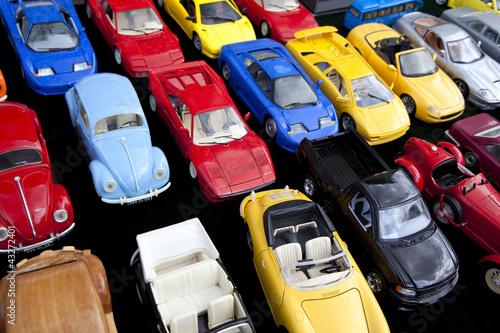 Jouet, voiture, miniature, jeu, plastique, rétro, vintage