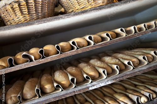 Pain, boulangerie, fournil, farine, cuisson, aliment, cuit