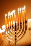 Fototapety Brightly Lit Hanukkah Candles