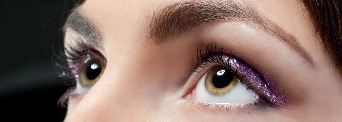 eyes close-up with make up