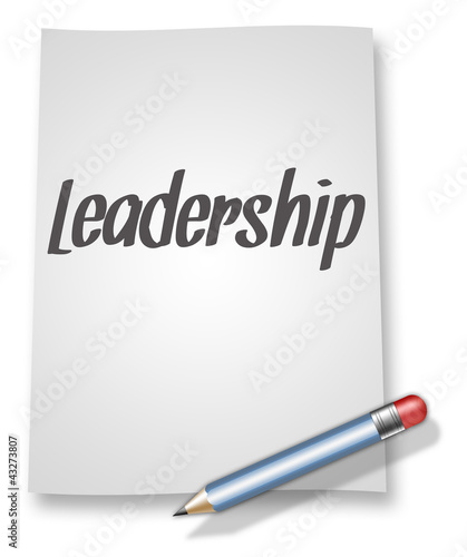 "Paper & Pencil Illustration ""Leadership"""
