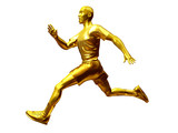 Jogger as golden boy