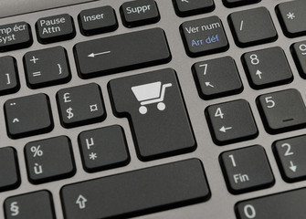Touche de clavier e-commerce