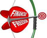 Financial Freedom Independence Bow Arrow Target Goal