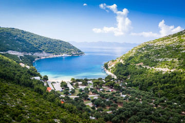 Beautiful view of Croatian bay