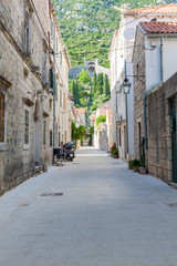 Narrow street in Croatian Town