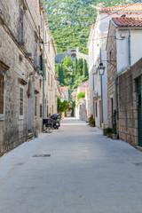 Narrow street in Croatian Town