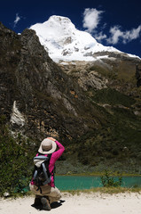 Peru, Cordillera Blanca, lagunas Llanganuco