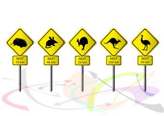 australische strassenschilder