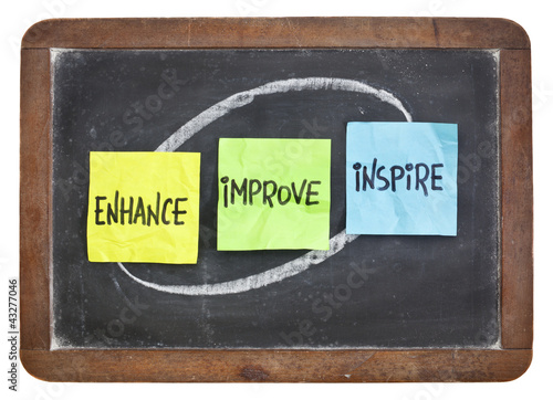 enhance, improve, inspire on blackboard