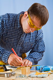 worker with pencil