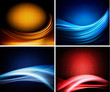 Set of business colorful abstract backgrounds.