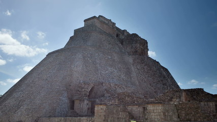 time-lapse of the mayan ruins at uxmal, mexico