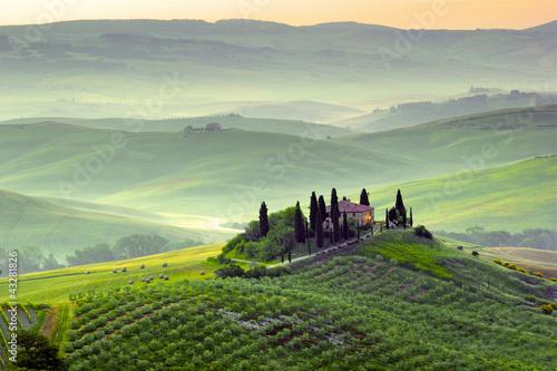Zdjęcia na płótnie, fototapety na wymiar, obrazy na ścianę : Podere in Toscana, Italia