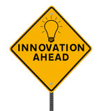 Innovation Road Sign on White