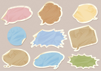 Vintage retro bubbles speech Vector