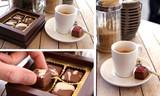 espresso und pralinen
