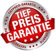 """Button Banner """"Tiefpreis-Garantie"""" rot/silber"""