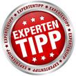 """Button """"Expertentipp"""" rot/silber"""
